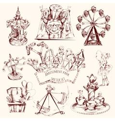 Amusement Park Sketch vector image