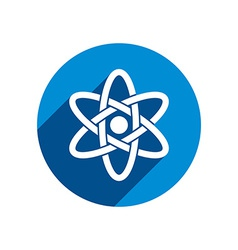 Atom part on white background icon vector image