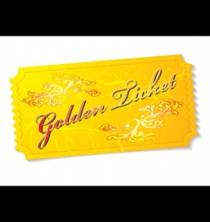 golden ticket vector image