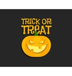 Trick or treat Halloween poster with hand vector image
