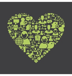 Users heart vector image vector image