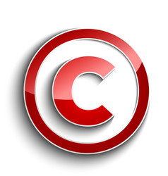 Copyright sign vector image