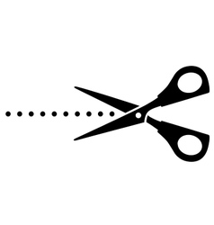 cutting scissors with black points vector image vector image