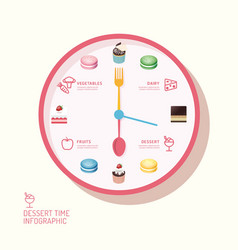 Infographic watch and bakery flat icons idea vector image vector image