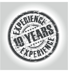 10 years experience vector image