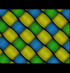 African wax print fabric weaved fiber decorative vector