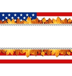 American Flag Banner vector