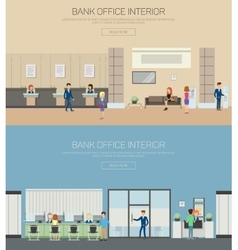 Bank interior or department with cashier vector image