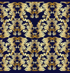 baroque seamless pattern floral backgroun vector image