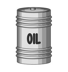 Barrel of oiloil single icon in monochrome style vector