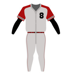 baseball uniform image vector image