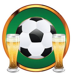 Beer and Soccer Ball6 vector