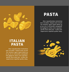 best pasta made of organic ingredients promotional vector image