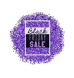 Big Black Friday Sale purple glitter vector image