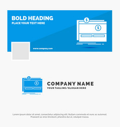 blue business logo template for crowdfunding vector image