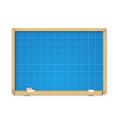 blueprint on school blackboard vector image