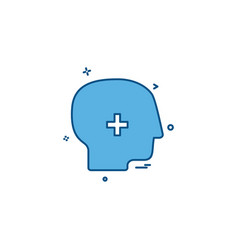 brain treatment user icon desige vector image