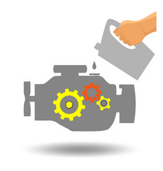 Car engine maintenance vector