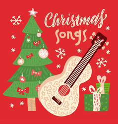 christmas songs - for disc vector image