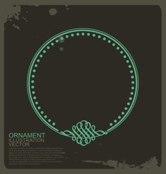 Circle vintage ornament vector