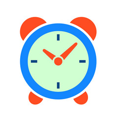 clock time icon vector image