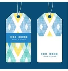 colorful fabric ikat diamond vertical vector image