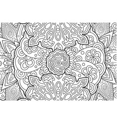 coloring book page with abstract rectangle art vector image