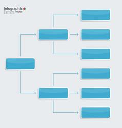 Corporate organization chart template vector
