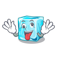 Crazy ice cubes on the cartoon funny vector