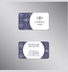 creative business card with tribal ornament vector image