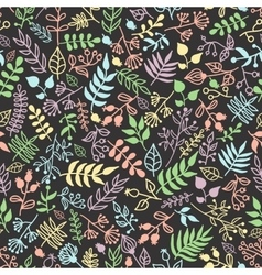 doodle rustic floral pattern vector image