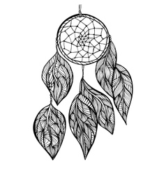 dream Catcher Doodle style vector image