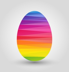 Easter egg with full spectrum polygon pattern vector