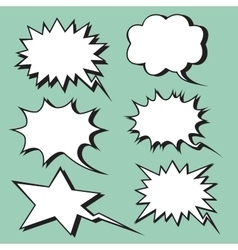 explosion expression comic bubble retro style vector image