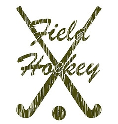 field hockey 05 vector image