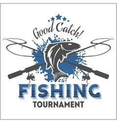 Fishing emblem badge and design elements vector