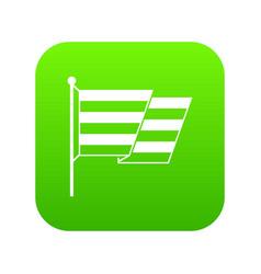 flag lgbt icon digital green vector image