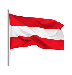 Flag republic austria on flagpole vector