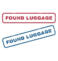 Found luggage rubber stamps vector