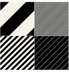 four diagonal patterns collection diagonal lines vector image