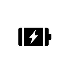 full charge battery flat icon vector image