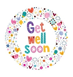 Get well soon card 3 vector