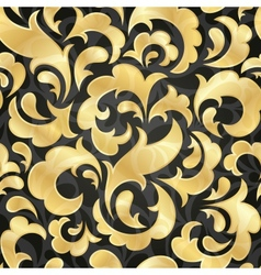 golden seamless wallpaper vector image