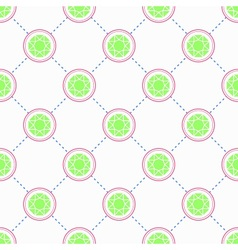 Green Emerald pattern vector image