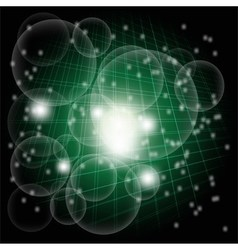 Grid Abstract dark green circle dotted burst backg vector
