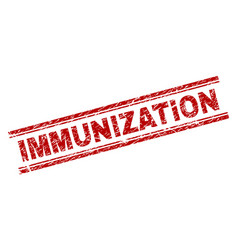 Grunge textured immunization stamp seal vector