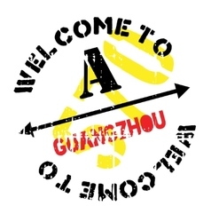 Guangzhou stamp rubber grunge vector
