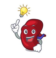 have an idea spleen mascot cartoon style vector image