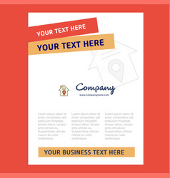 house location title page design for company vector image