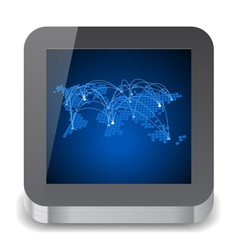 Icon for tablet computer vector
